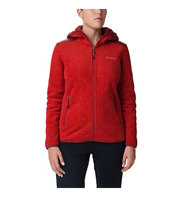 Women's Winter Pass Print Fleece Full Zip Jacket Winter Pass™ Print Fleece Full | 472 | S, Beet Dot Print, Beet, front