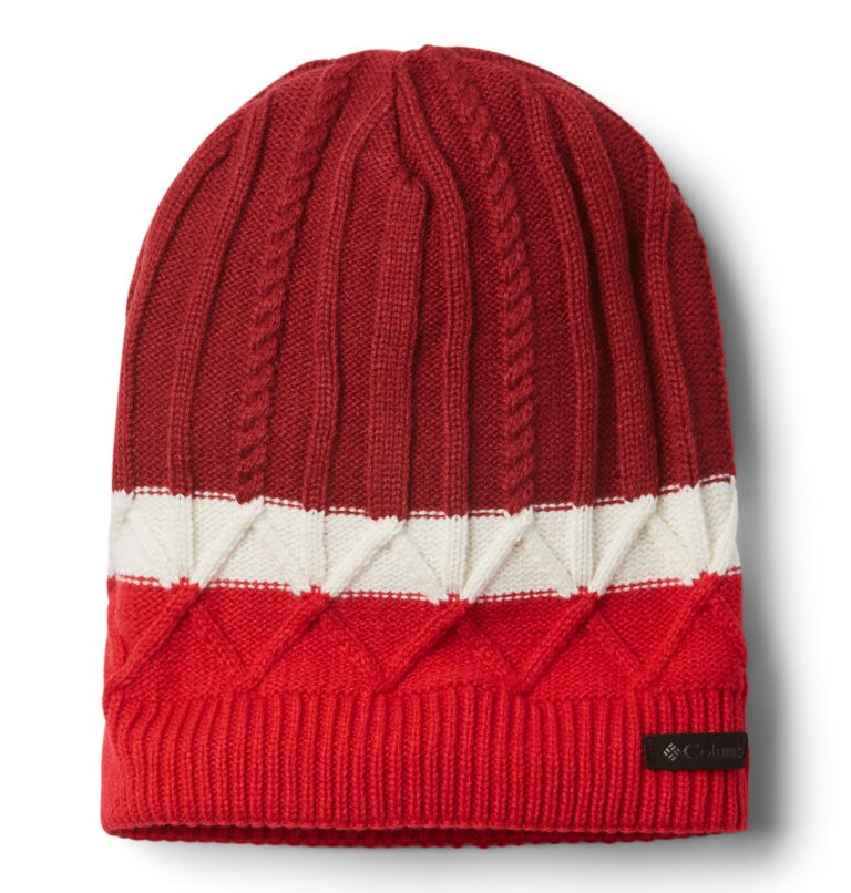 Carson Pass™ Beanie II | 607 | O/S Carson Pass™ Beanie II, Beet, Red Lily, Chalk, front