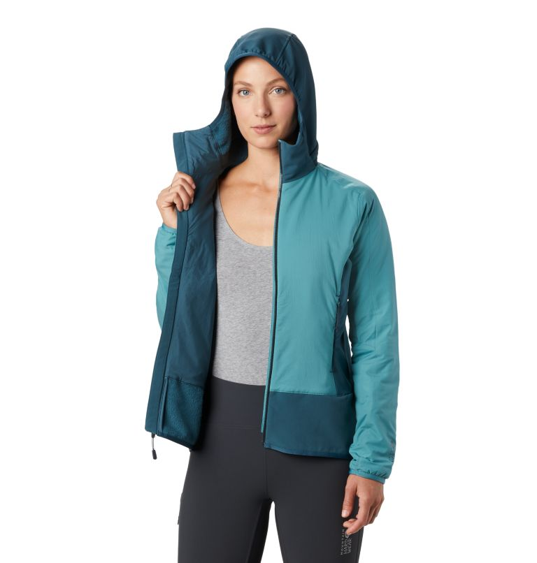 Kor Strata™ Climb Hoody | 447 | M Women's Kor Strata™ Climb Hoody, Washed Turq, a2