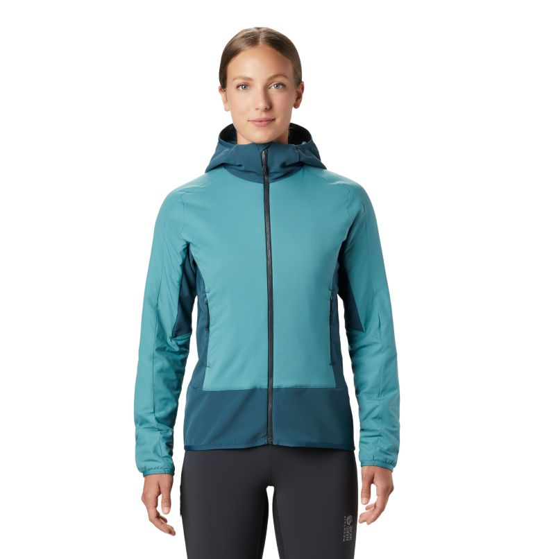 Kor Strata™ Climb Hoody | 447 | M Women's Kor Strata™ Climb Hoody, Washed Turq, front