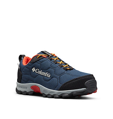 Youth Firecamp™ Sledder 3 Waterproof Shoe YOUTH FIRECAMP™ SLEDDER 3 WP | 036 | 1, Collegiate Navy, Flame, 3/4 front