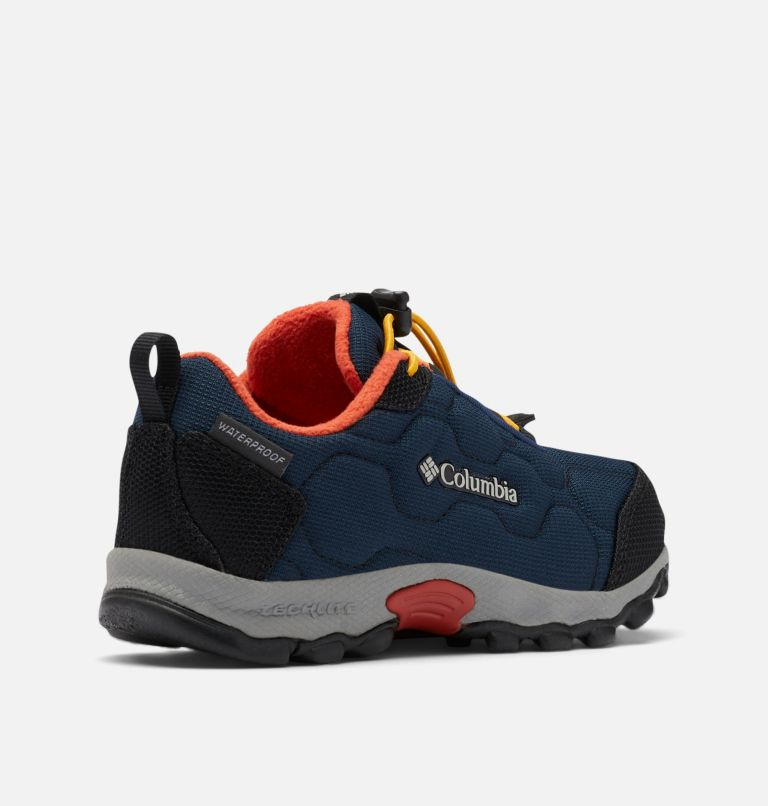 CHILDRENS FIRECAMP™ SLEDDER 3 WP | 464 | 13 Chaussure Imperméable Firecamp Sledder 3 Enfant, Collegiate Navy, Flame, 3/4 back