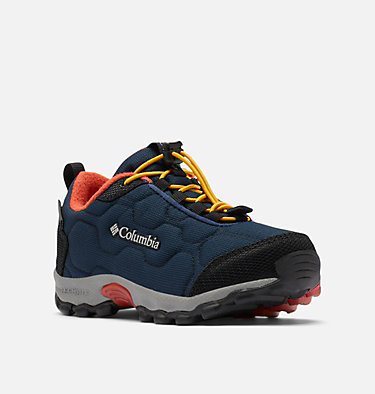 Little Kids' Firecamp™ Sledder 3 Waterproof Shoe CHILDRENS FIRECAMP™ SLEDDER 3 WP | 089 | 12.5, Collegiate Navy, Flame, 3/4 front