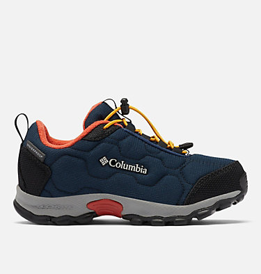 Little Kids' Firecamp™ Sledder 3 Waterproof Shoe CHILDRENS FIRECAMP™ SLEDDER 3 WP | 089 | 12.5, Collegiate Navy, Flame, front