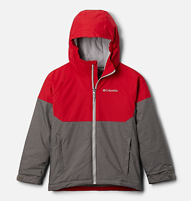 Boys' Alpine Action™ II Jacket Alpine Action™II Jacket | 023 | XL, City Grey Heather, Mtn Red, front
