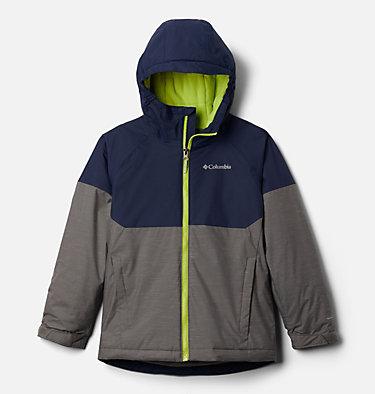 Boys' Alpine Action™ II Jacket Alpine Action™II Jacket | 023 | XL, City Grey Heather, Collegiate Navy, front