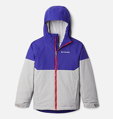 Boys' Alpine Action™ II Jacket Alpine Action™II Jacket | 023 | XL, Columbia Grey Heather, Purple Quartz, front