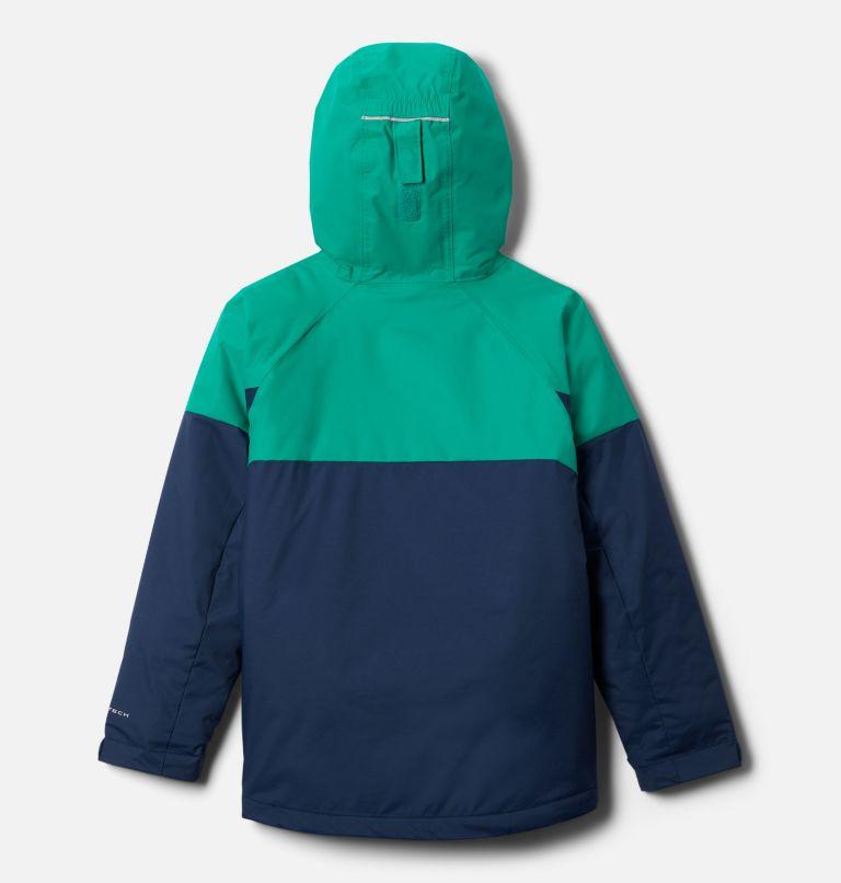 Alpine Action™II Jacket | 464 | XL Boys' Alpine Action™ II Jacket, Collegiate Navy Heather, Emerald Green, back
