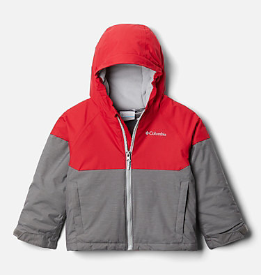Manteau Alpine Action™ II pour garçon Alpine Action™II Jacket | 023 | 2T, City Grey Heather, Mtn Red, front