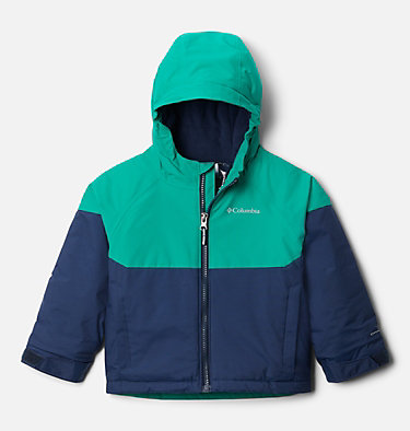 Manteau Alpine Action™ II pour garçon Alpine Action™II Jacket | 023 | 2T, Collegiate Navy Heather, Emerald Green, front
