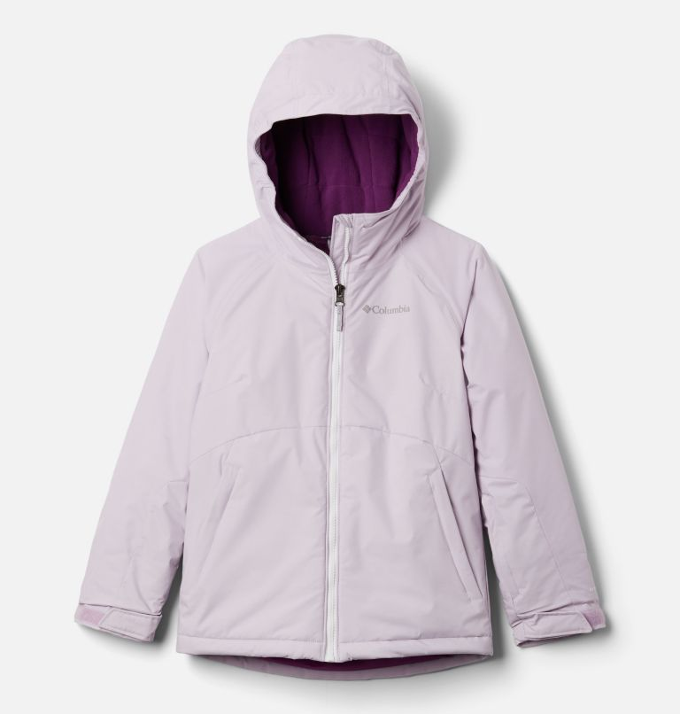 Alpine Action™ II Jacket | 584 | M Girls' Alpine Action™ II Jacket, Pale Lilac Heather, Pale Lilac, White, front