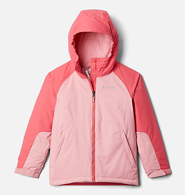 Girls' Alpine Action™ II Jacket Alpine Action™II Jacket | 689 | XL, Pink Orchid Heather, Bright Geranium, front