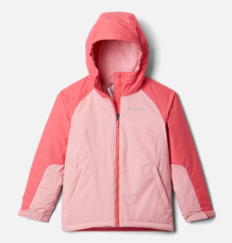 Alpine Action™II Jacket | 689 | L Girls' Alpine Action™ II Jacket, Pink Orchid Heather, Bright Geranium, front