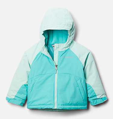 Girls' Toddler Alpine Action™ II Jacket Alpine Action™II Jacket | 689 | 2T, Dolphin Heather, Sea Ice, front