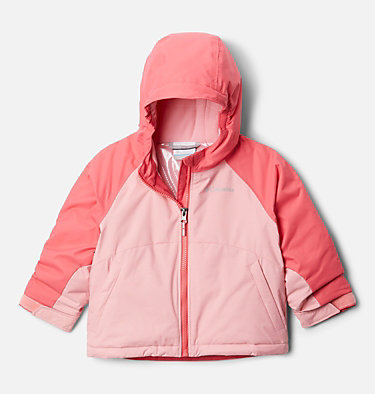 Manteau Alpine Action™ II pour fille Alpine Action™II Jacket | 689 | 2T, Pink Orchid Heather, Bright Geranium, front