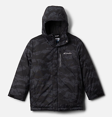 Boys' Alpine Free Fall™ II Jacket Alpine Free Fall™II Jacket | 012 | M, Black MountainScape Print, front