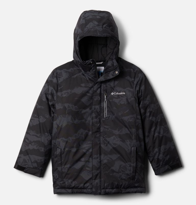 Alpine Free Fall™ II Jacket | 012 | M Kids' Alpine Free Fall™II Ski Jacket, Black MountainScape Print, front