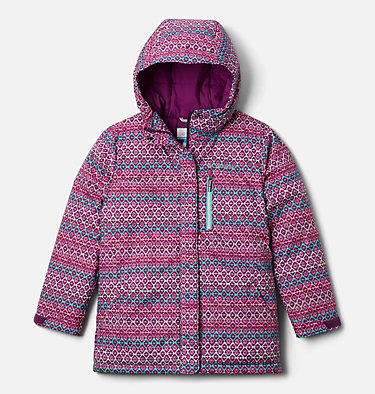 Kids' Alpine Free Fall™ II Jacket Alpine Free Fall™II Jacket | 575 | XS, Plum, Diamond Stripe Print, front