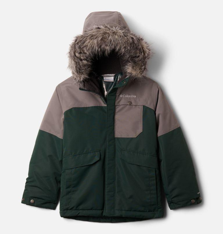 Nordic Strider™Jacket | 370 | L Boys' Nordic Strider™ Jacket, Spruce, City Grey, front