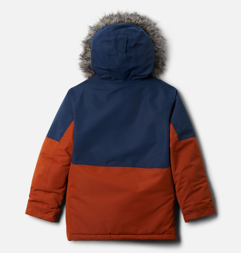 Nordic Strider™ Jacket | 885 | XL Boys' Nordic Strider™ Jacket, Dark Adobe, Collegiate Navy, back
