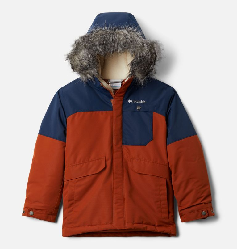 Nordic Strider™Jacket | 885 | XL Boys' Nordic Strider™ Jacket, Dark Adobe, Collegiate Navy, front