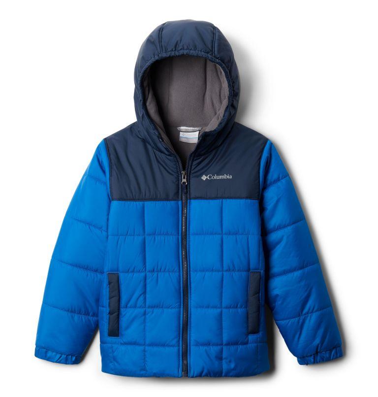 Puffect™ II Puffer Full Zip   432   M Boys' Puffect II Puffer Full-Zip Jacket, Bright Indigo, Collegiate Navy, front
