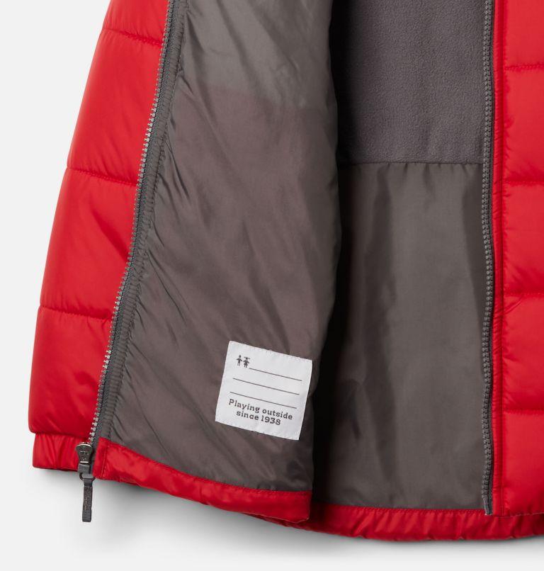 Puffect™ II Puffer Full Zip | 614 | L Boys' Puffect II Puffer Full-Zip Jacket, Mountain Red, City Grey, a1