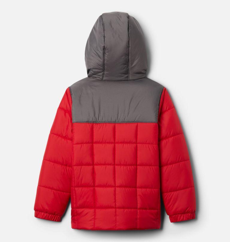Puffect™ II Puffer Full Zip | 614 | L Boys' Puffect II Puffer Full-Zip Jacket, Mountain Red, City Grey, back