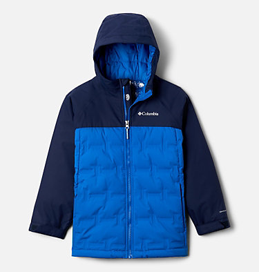 Kids' Grand Trek™ Down Jacket Grand Trek™Down Jacket | 432 | XL, Bright Indigo, Collegiate Navy, front