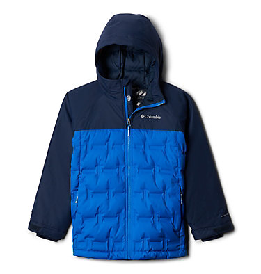Kids' Grand Trek™ Down Jacket Grand Trek™Down Jacket | 576 | L, Super Blue, Collegiate Navy, front