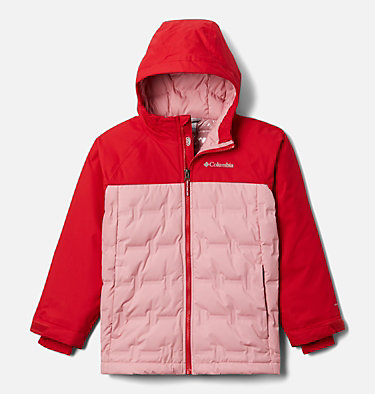 Youth Grand Trek™Down Jacket Grand Trek™Down Jacket | 010 | L, Red Lily, Pink Orchid, front