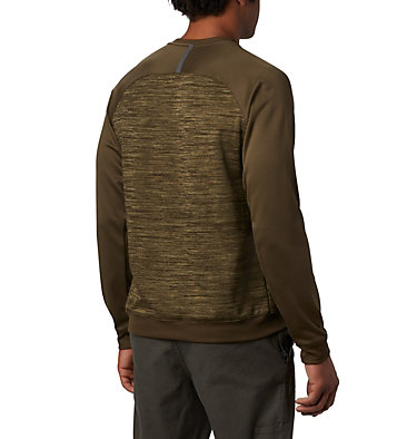 Men's Tech Trail™  Midlayer Crew Shirt Tech Trail™ Midlayer Crew   844   XL, Olive Green, back