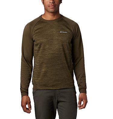 Men's Tech Trail™  Midlayer Crew Shirt Tech Trail™ Midlayer Crew   844   XL, Olive Green, front