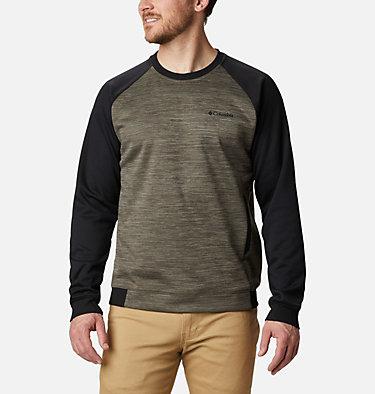 Men's Tech Trail™  Midlayer Crew Shirt Tech Trail™ Midlayer Crew   844   XL, Stone Green, Black, front