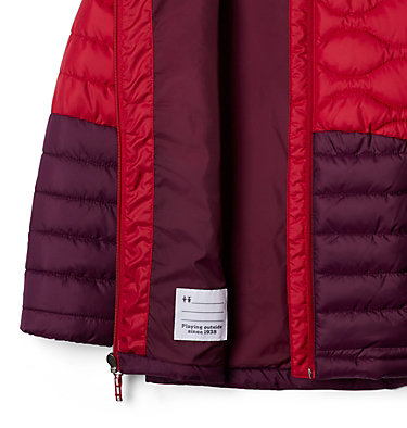 Girls' Humphrey Hills™ Puffer Jacket Humphrey Hills™Puffer | 689 | XS, Purple Dahlia, Pomegranate, a1