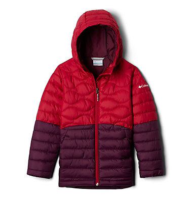 Girls' Humphrey Hills™ Puffer Jacket Humphrey Hills™Puffer | 689 | XS, Purple Dahlia, Pomegranate, front