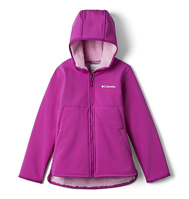 Manteau long à coquille souple avec glissière pleine longueur Winter Whirl™ pour fille Winter Whirl™Long Softshell F | 695 | L, Bright Plum, front