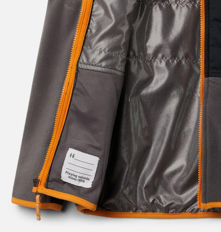 Basin Butte™ Fleece Full Zip   023   S Kids' Basin Butte™ Fleece Jacket, City Grey, Black, Flame Orange, a1