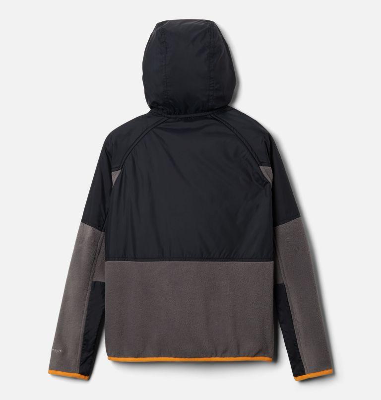 Basin Butte™ Fleece Full Zip   023   S Kids' Basin Butte™ Fleece Jacket, City Grey, Black, Flame Orange, back