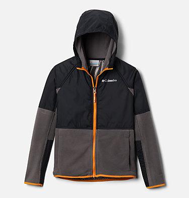 Kids' Basin Butte™ Fleece Jacket Basin Butte™ Fleece Full Zip | 432 | S, City Grey, Black, Flame Orange, front