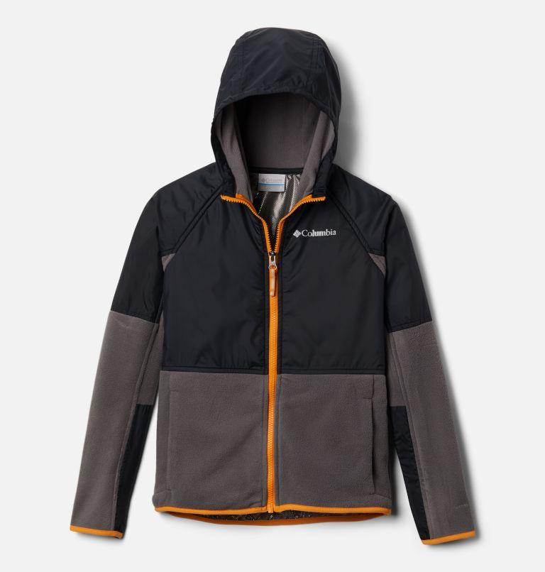 Basin Butte™ Fleece Full Zip   023   S Kids' Basin Butte™ Fleece Jacket, City Grey, Black, Flame Orange, front