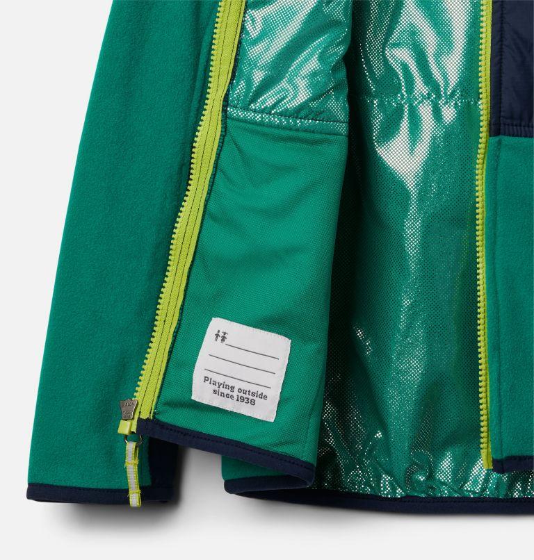 Basin Butte™ Fleece Full Zip | 374 | XS Kids' Basin Butte™ Fleece Jacket, Emerald Green, Collegiate Navy, a1