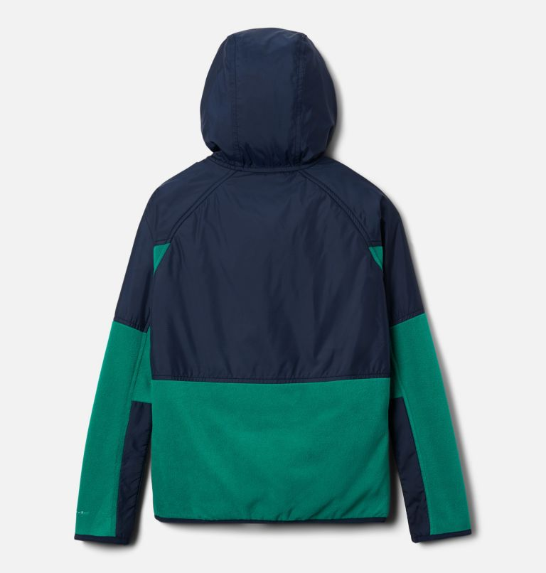 Basin Butte™ Fleece Full Zip | 374 | XS Kids' Basin Butte™ Fleece Jacket, Emerald Green, Collegiate Navy, back