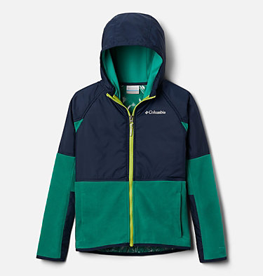 Kids' Basin Butte™ Fleece Jacket Basin Butte™ Fleece Full Zip | 432 | S, Emerald Green, Collegiate Navy, front