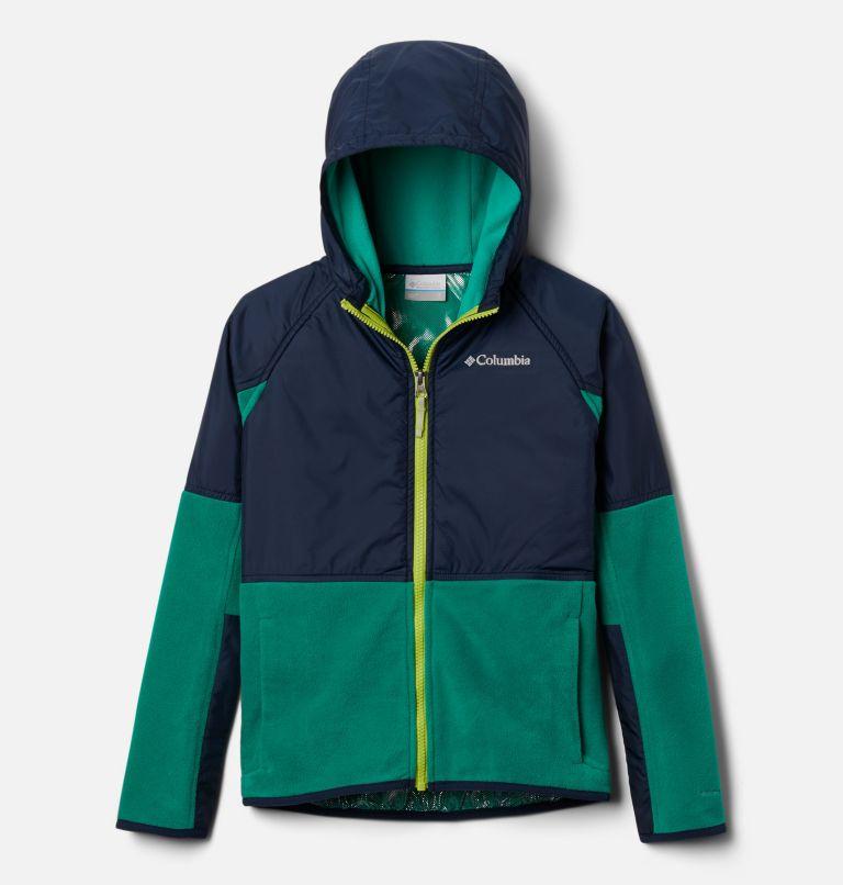 Basin Butte™ Fleece Full Zip | 374 | XS Kids' Basin Butte™ Fleece Jacket, Emerald Green, Collegiate Navy, front