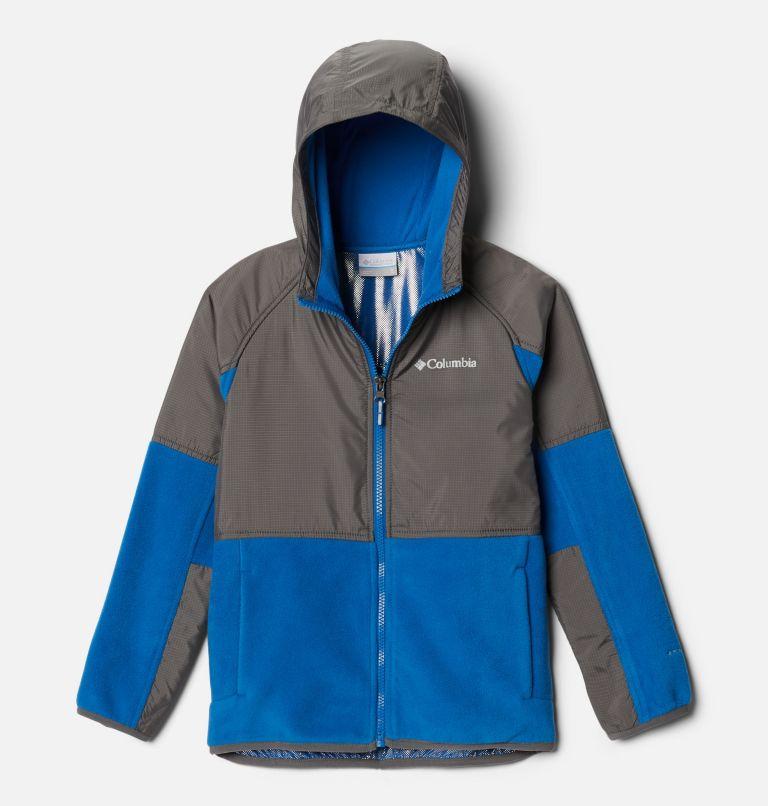 Basin Butte™ Fleece Full Zip | 432 | S Kids' Basin Butte™ Fleece Jacket, Bright Indigo, City Grey, front