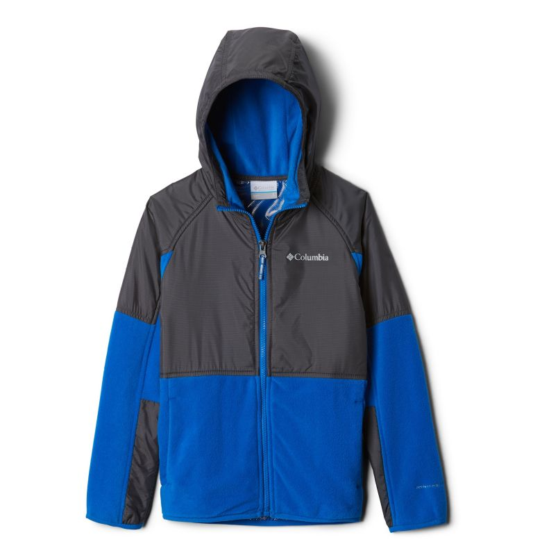 Basin Butte™ Fleece Full Zip   438   M Kids' Basin Butte™ Fleece Jacket, Super Blue, Grill, front