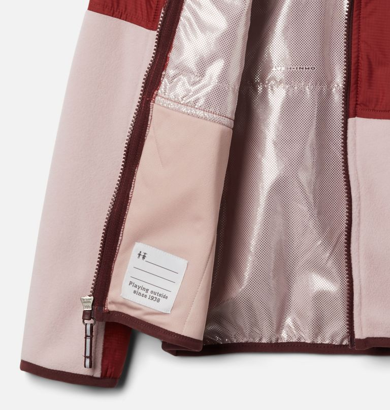 Basin Butte™ Fleece Full Zip | 618 | XS Kids' Basin Butte™ Fleece Jacket, Mineral Pink, Marsala Red, a1