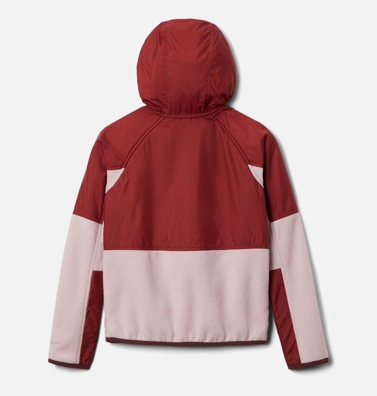 Basin Butte™ Fleece Full Zip | 618 | XS Kids' Basin Butte™ Fleece Jacket, Mineral Pink, Marsala Red, back