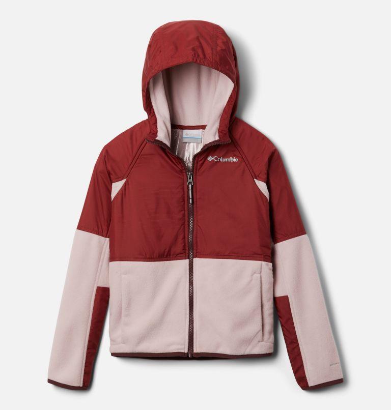 Basin Butte™ Fleece Full Zip | 618 | XS Kids' Basin Butte™ Fleece Jacket, Mineral Pink, Marsala Red, front